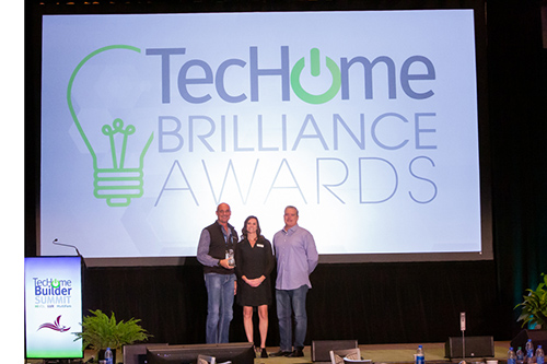 Accepting Tech Home Brilliance Award
