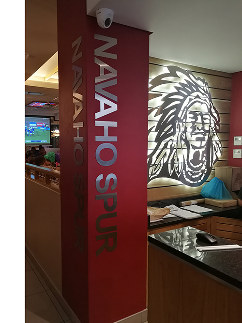 Navaho Spur Inside Sign