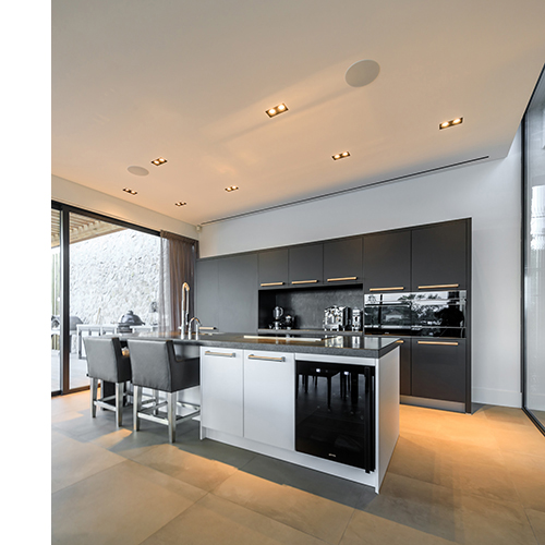 Kitchen and dining area - very sleek